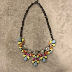 Jeweled statement necklace.